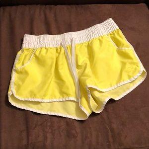 OP highlighter yellow short shorts w/pockets sz M
